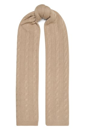 Мужские кашемировый шарф RALPH LAUREN бежевого цвета, арт. 434725437 | Фото 1