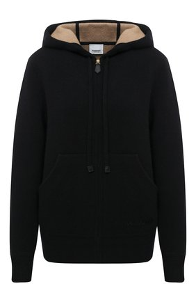 Женский кашемировый кардиган BURBERRY черного цвета, арт. 8038022 | Фото 1