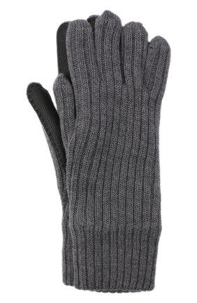 Женские шерстяные перчатки BURBERRY серого цвета, арт. 8036242 | Фото 1