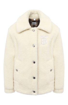 Женская шерстяная куртка BURBERRY белого цвета, арт. 8036148 | Фото 1