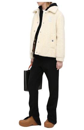 Женская шерстяная куртка BURBERRY белого цвета, арт. 8036148 | Фото 2