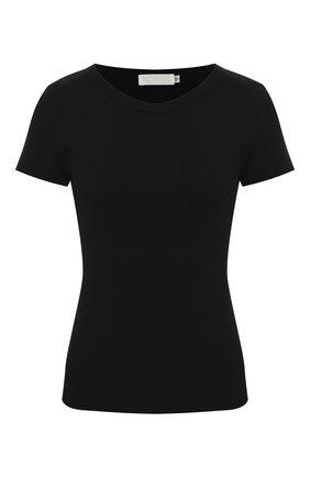 Женская хлопковая футболка MOUSSY черного цвета, арт. 025DA380-6100 | Фото 1