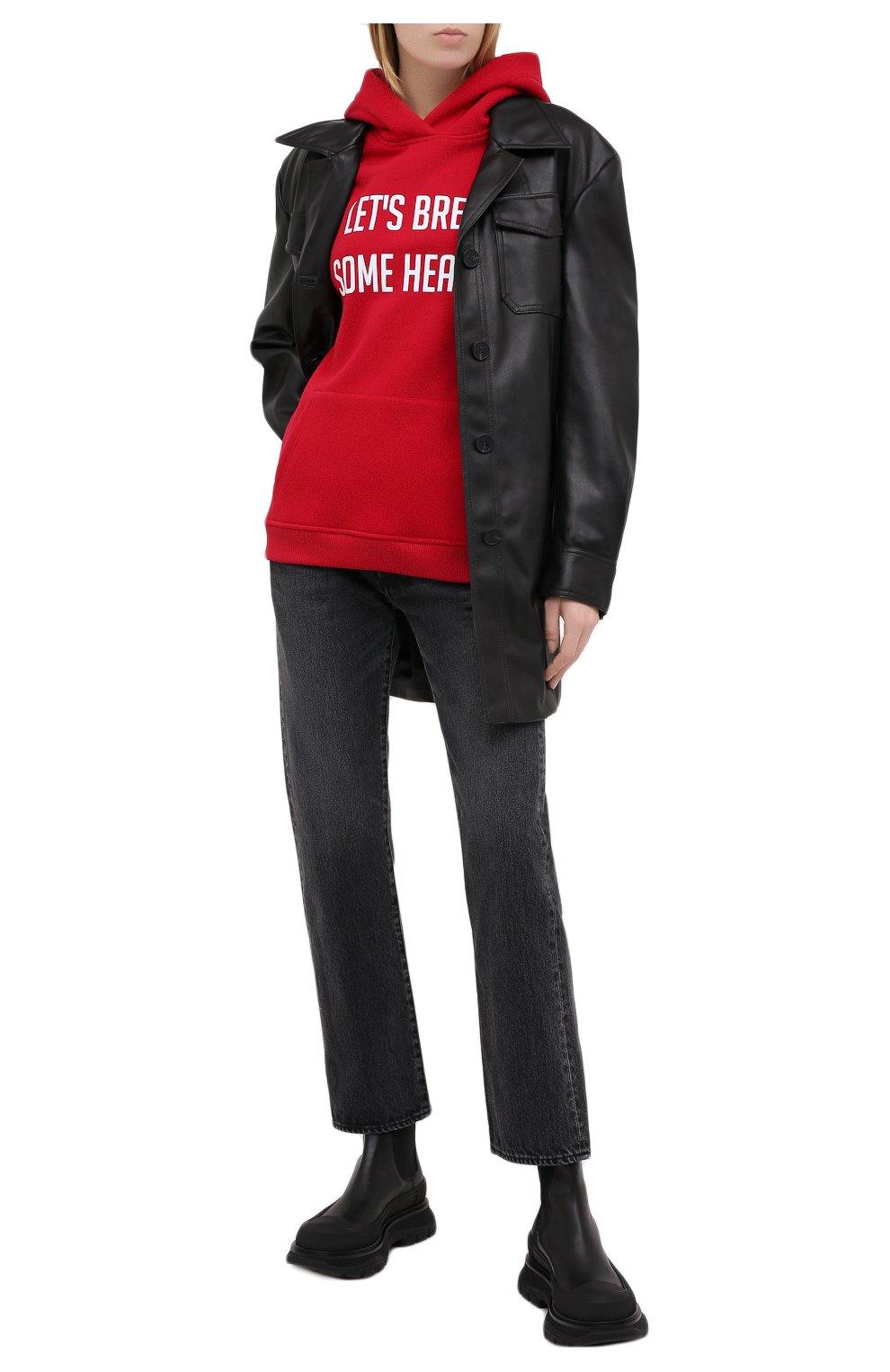 Женские джинсы MOUSSY темно-серого цвета, арт. 025DAC11-1090   Фото 2
