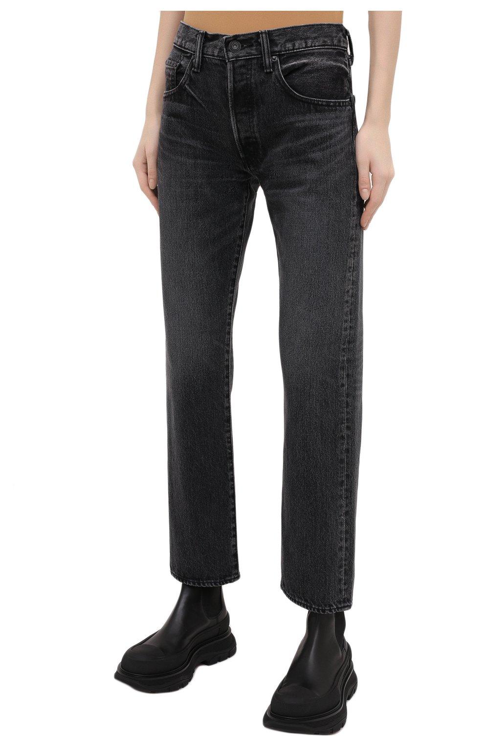 Женские джинсы MOUSSY темно-серого цвета, арт. 025DAC11-1090   Фото 3