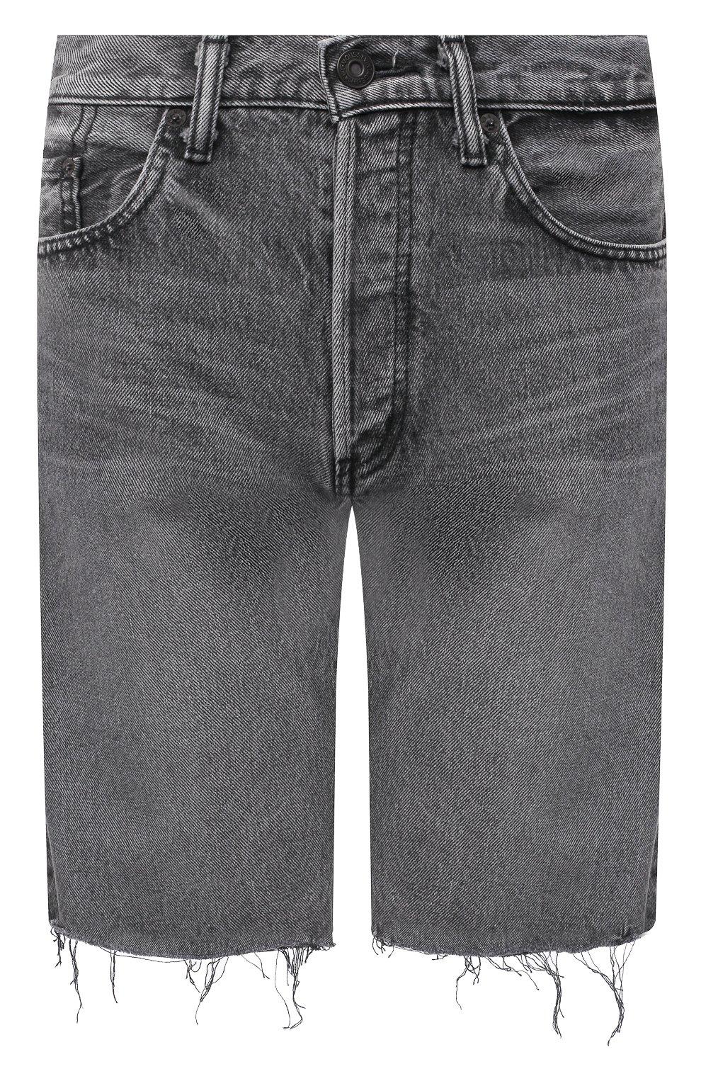 Женские джинсовые шорты MOUSSY серого цвета, арт. 025DAC11-1120 | Фото 1 (Женское Кросс-КТ: Шорты-одежда; Кросс-КТ: Деним; Стили: Гранж; Материал внешний: Хлопок, Деним; Длина Ж (юбки, платья, шорты): До колена)