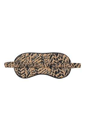 Женские маска для сна YOLKE коричневого цвета, арт. SS21-17C-AN-DI | Фото 2