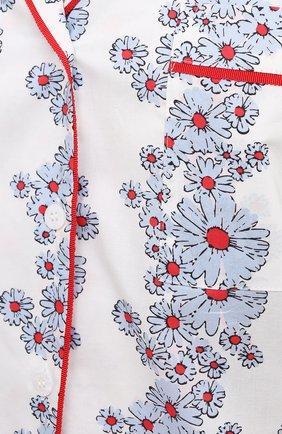 Женская хлопковая пижама YOLKE светло-голубого цвета, арт. SS21-02C-BL-C0   Фото 6 (Рукава: Длинные; Длина Ж (юбки, платья, шорты): Мини; Длина (брюки, джинсы): Стандартные; Длина (для топов): Стандартные; Материал внешний: Хлопок)