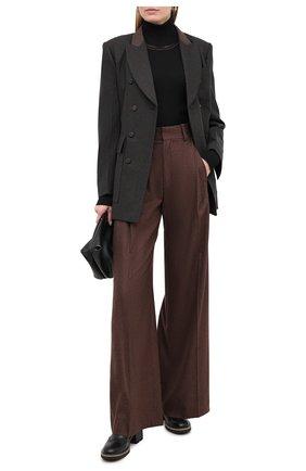 Женская водолазка из шерсти и шелка CHLOÉ черного цвета, арт. CHC20WMP10510   Фото 2