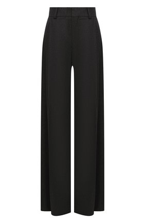 Женские брюки из шерсти и кашемира CHLOÉ темно-коричневого цвета, арт. CHC20WPA10065   Фото 1
