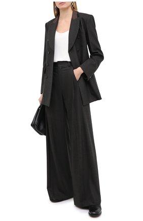 Женские брюки из шерсти и кашемира CHLOÉ темно-коричневого цвета, арт. CHC20WPA10065   Фото 2