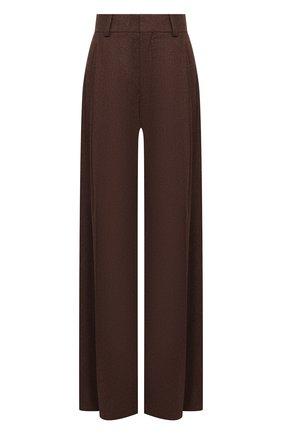 Женские брюки из шерсти и кашемира CHLOÉ коричневого цвета, арт. CHC20WPA10065   Фото 1