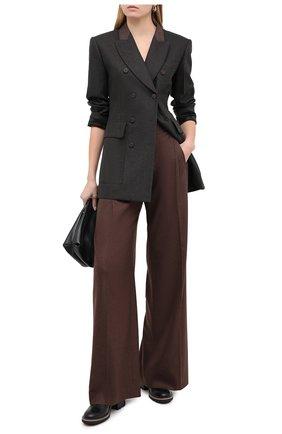 Женские брюки из шерсти и кашемира CHLOÉ коричневого цвета, арт. CHC20WPA10065   Фото 2