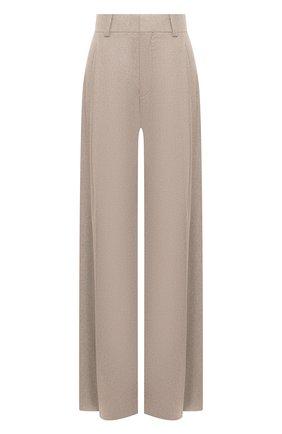 Женские брюки из шерсти и кашемира CHLOÉ бежевого цвета, арт. CHC20WPA10065   Фото 1