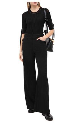 Женские шерстяные брюки CHLOÉ черного цвета, арт. CHC20WPA16066   Фото 2