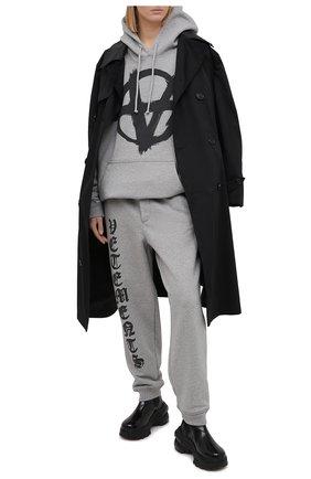 Женские хлопковые джоггеры VETEMENTS серого цвета, арт. ME51PA820G 1601 | Фото 2
