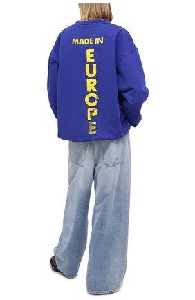 Женская хлопковый свитшот VETEMENTS синего цвета, арт. UE51TR670R 1613/W | Фото 2