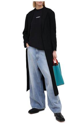 Женская хлопковая футболка VETEMENTS черного цвета, арт. UE51TR540B 1600/W | Фото 2