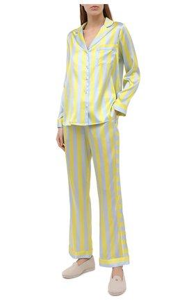 Женская шелковая пижама YOLKE разноцветного цвета, арт. SS21-02S-CS-ZS | Фото 1