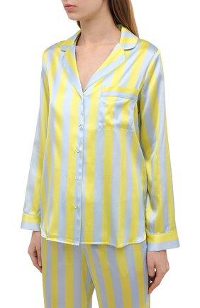 Женская шелковая пижама YOLKE разноцветного цвета, арт. SS21-02S-CS-ZS | Фото 2