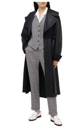 Женский жилет KITON черно-белого цвета, арт. D47456S06304 | Фото 2 (Материал подклада: Шелк; Длина (верхняя одежда): Короткие; Материал внешний: Шелк, Шерсть; Стили: Классический)