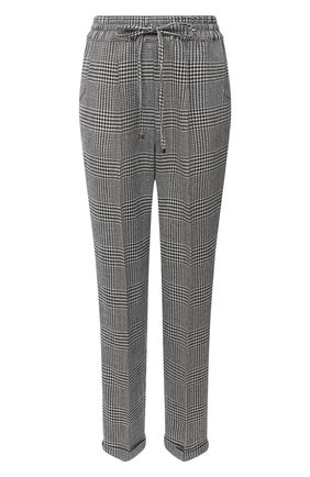 Женские брюки KITON черно-белого цвета, арт. D37102S06304 | Фото 1