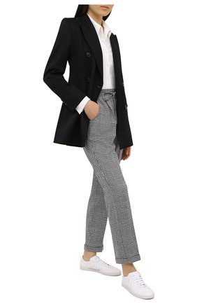 Женские брюки KITON черно-белого цвета, арт. D37102S06304 | Фото 2