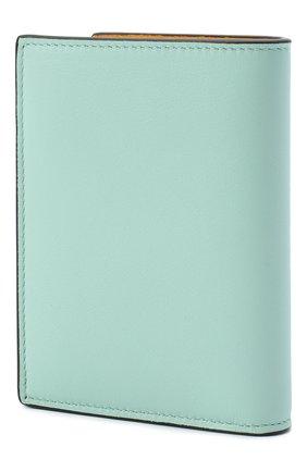 Женский кожаный футляр для кредитных карт LOEWE бирюзового цвета, арт. C643075X02   Фото 2