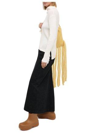 Женская хлопковая юбка Y`S черного цвета, арт. YR-S41-032 | Фото 2