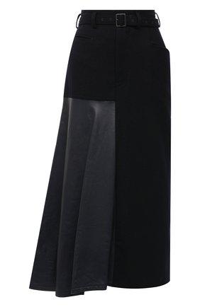 Женская шерстяная юбка Y`S синего цвета, арт. YR-S01-808   Фото 1