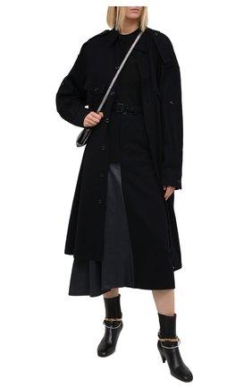 Женская шерстяная юбка Y`S синего цвета, арт. YR-S01-808   Фото 2