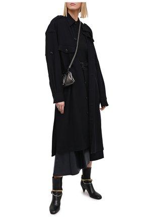 Женское шерстяное платье Y`S синего цвета, арт. YR-D06-101 | Фото 2