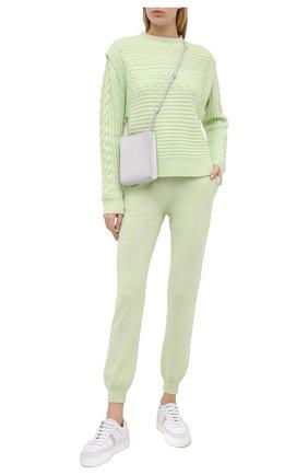 Женские кашемировые джоггеры FTC зеленого цвета, арт. 770-0941 | Фото 2
