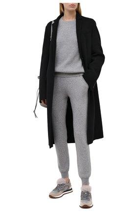 Женский кашемировый свитер FTC серого цвета, арт. 810-0100 | Фото 2