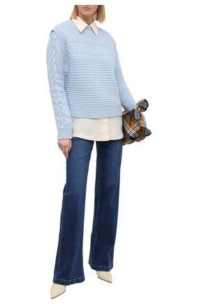 Женский кашемировый свитер FTC голубого цвета, арт. 810-0320   Фото 2
