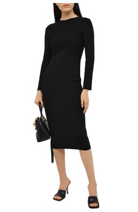 Женское платье из вискозы EMPORIO ARMANI черного цвета, арт. 6H2AW1/2M4BZ | Фото 2
