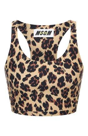 Женская топ MSGM леопардового цвета, арт. 2945MDT08 207722 | Фото 1