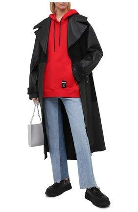 Женская хлопковое худи MSGM красного цвета, арт. 2945MDM34 207649 | Фото 2