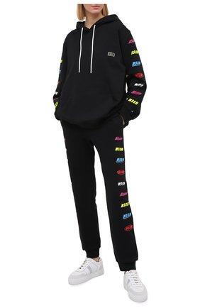Женская хлопковое худи MSGM черного цвета, арт. 2945MDM17 207649 | Фото 2