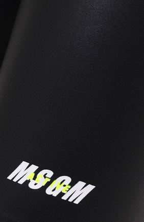 Женские шорты MSGM черного цвета, арт. 2945MDB01 207703   Фото 5 (Длина Ж (юбки, платья, шорты): Мини; Кросс-КТ: Спорт; Материал внешний: Синтетический материал; Женское Кросс-КТ: Шорты-спорт)
