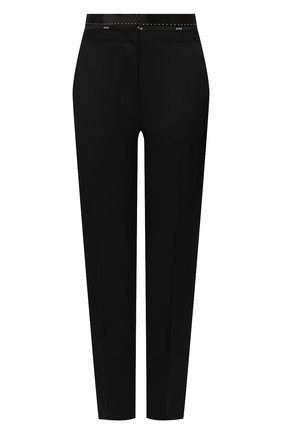 Женские шерстяные брюки MSGM черного цвета, арт. 2942MDP114 207671 | Фото 1