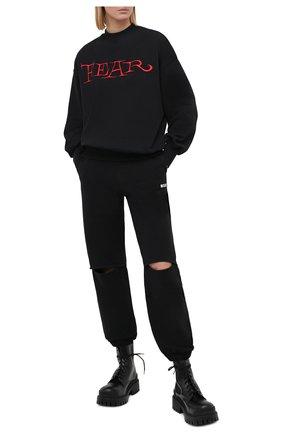 Женская хлопковый свитшот MSGM черного цвета, арт. 2942MDM191 207999 | Фото 2