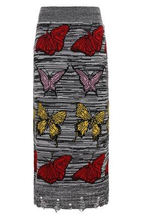 Женская юбка MSGM разноцветного цвета, арт. 2942MDD212 207952 | Фото 1