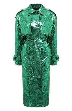 Женский плащ MSGM зеленого цвета, арт. 2942MDC117 207815   Фото 1