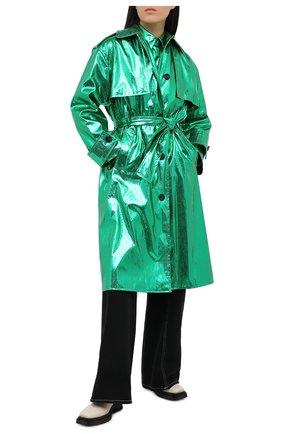 Женский плащ MSGM зеленого цвета, арт. 2942MDC117 207815   Фото 2