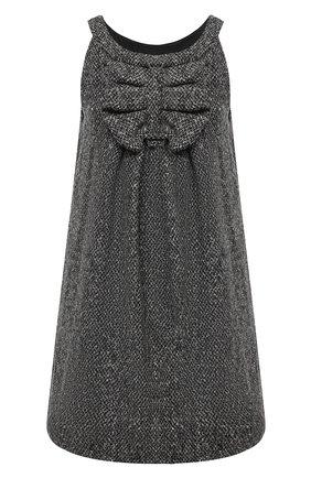 Женское шерстяное платье MSGM серого цвета, арт. 2942MDA257 207816 | Фото 1