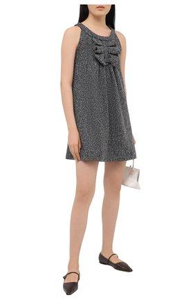Женское шерстяное платье MSGM серого цвета, арт. 2942MDA257 207816 | Фото 2
