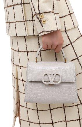 Женская сумка valentino garavani vsling VALENTINO светло-серого цвета, арт. UW0B0F53/XDE/AMIS | Фото 2
