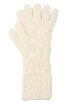 Женские кашемировые перчатки RALPH LAUREN кремвого цвета, арт. 290840298 | Фото 1 (Материал: Кашемир, Шерсть)
