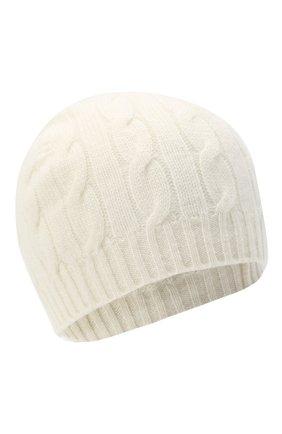 Женская кашемировая шапка RALPH LAUREN кремвого цвета, арт. 290840297 | Фото 1 (Материал: Кашемир, Шерсть)
