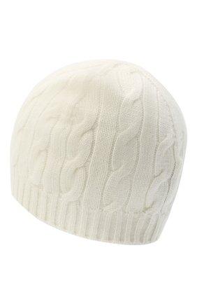 Женская кашемировая шапка RALPH LAUREN кремвого цвета, арт. 290840297 | Фото 2 (Материал: Кашемир, Шерсть)